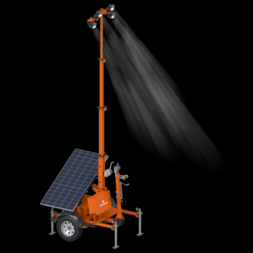 PSLT-4000S : Portable Compact Solar Light Tower